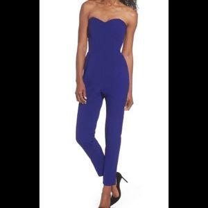Adelyn Rae Royal Blue Jumpsuit NWOT